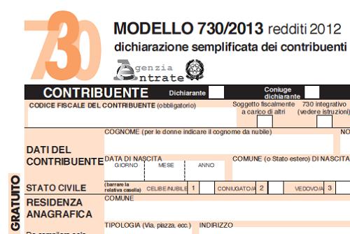 Modello 730 editabile online per la compilazione for 730 modello