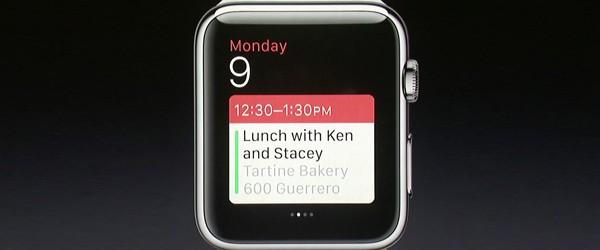 Apple Watch - funzione agenda