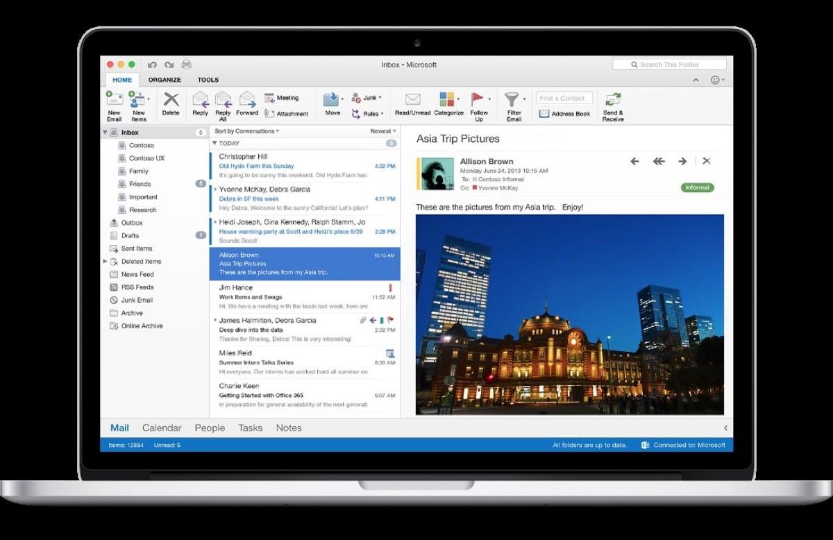 Outlook_Office 2016 per Mac
