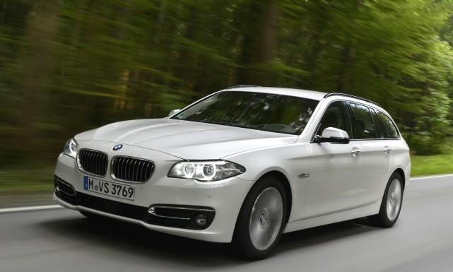 BMW 520d Touring, 190 PS , mineralweiß metallic, Luxury, Leder Dakota Mokka