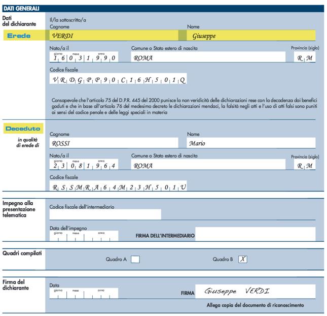 Esenzione Canone RAI: Esempi Di Compilazione   PMI.it