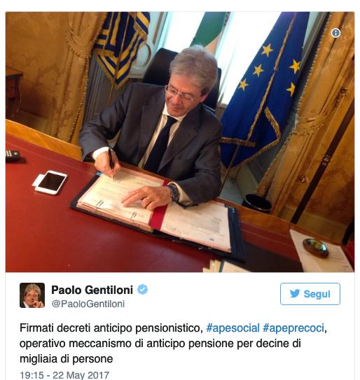 APe Decreto Gentiloni