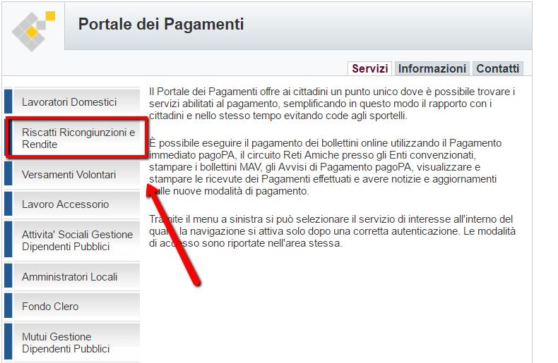 portale_pagsamenti_riscatti_ricongiunzioni_rendite