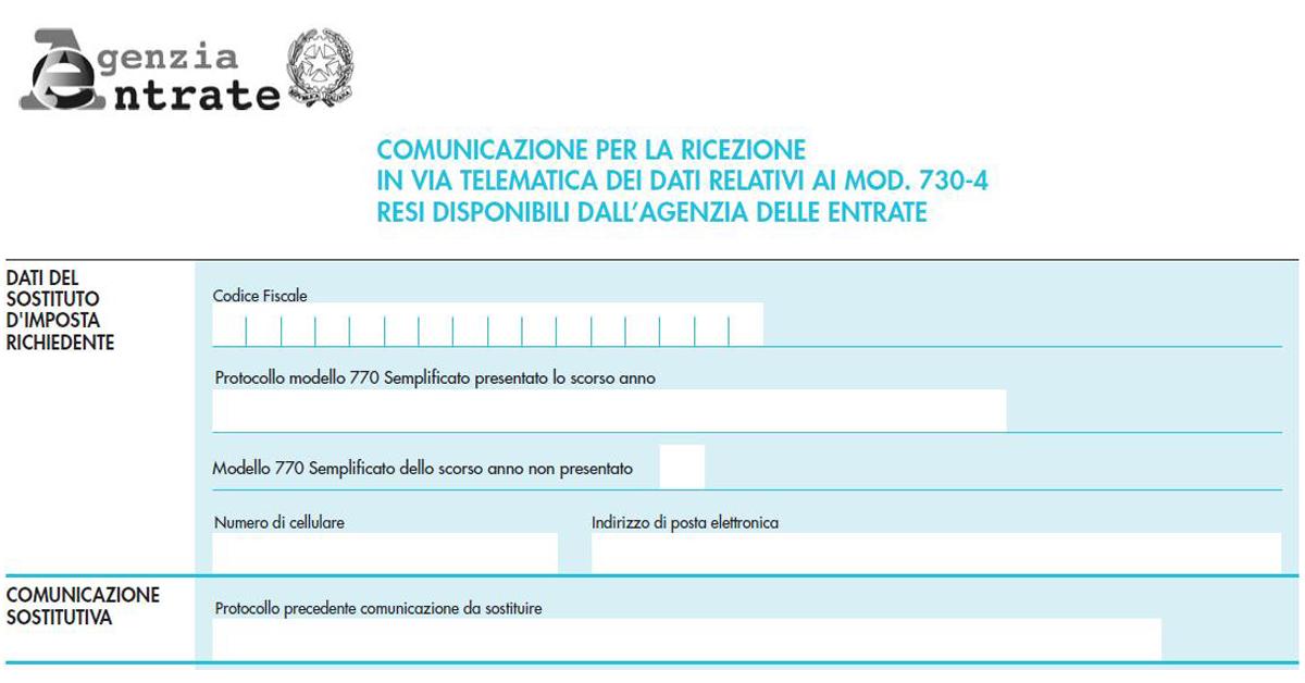 730/4 agenzia delle entrate