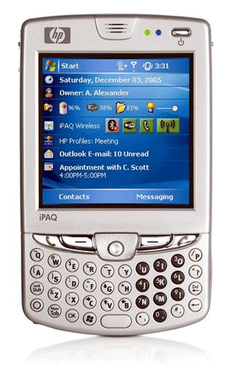 Il modello HP iPAQ hw6900