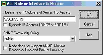 Interfaccia da monitorare