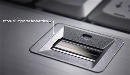 Lettore biometrico di un computer laptop Dell