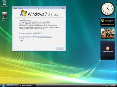 Schermata di Windows 7