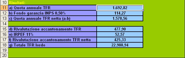 Calcolo tfr online inps