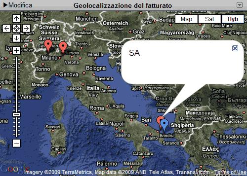 Dati geolocalizzati