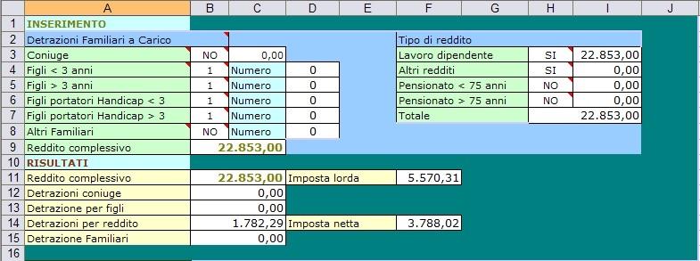 calcolo irpef 2007