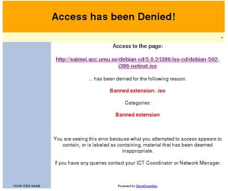 Accesso negato per i file