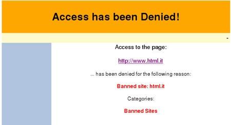Accesso non consentito ad un dominio