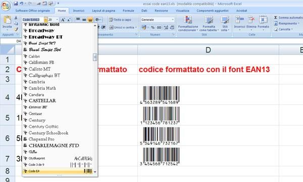 Generatore codice a barre free