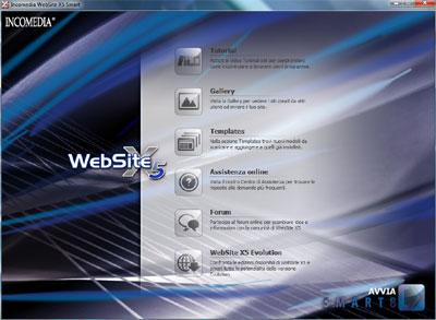 Finestra principale WebSite X5 Smart 8