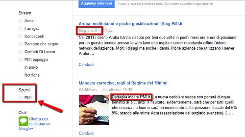 Google Plus: spunti